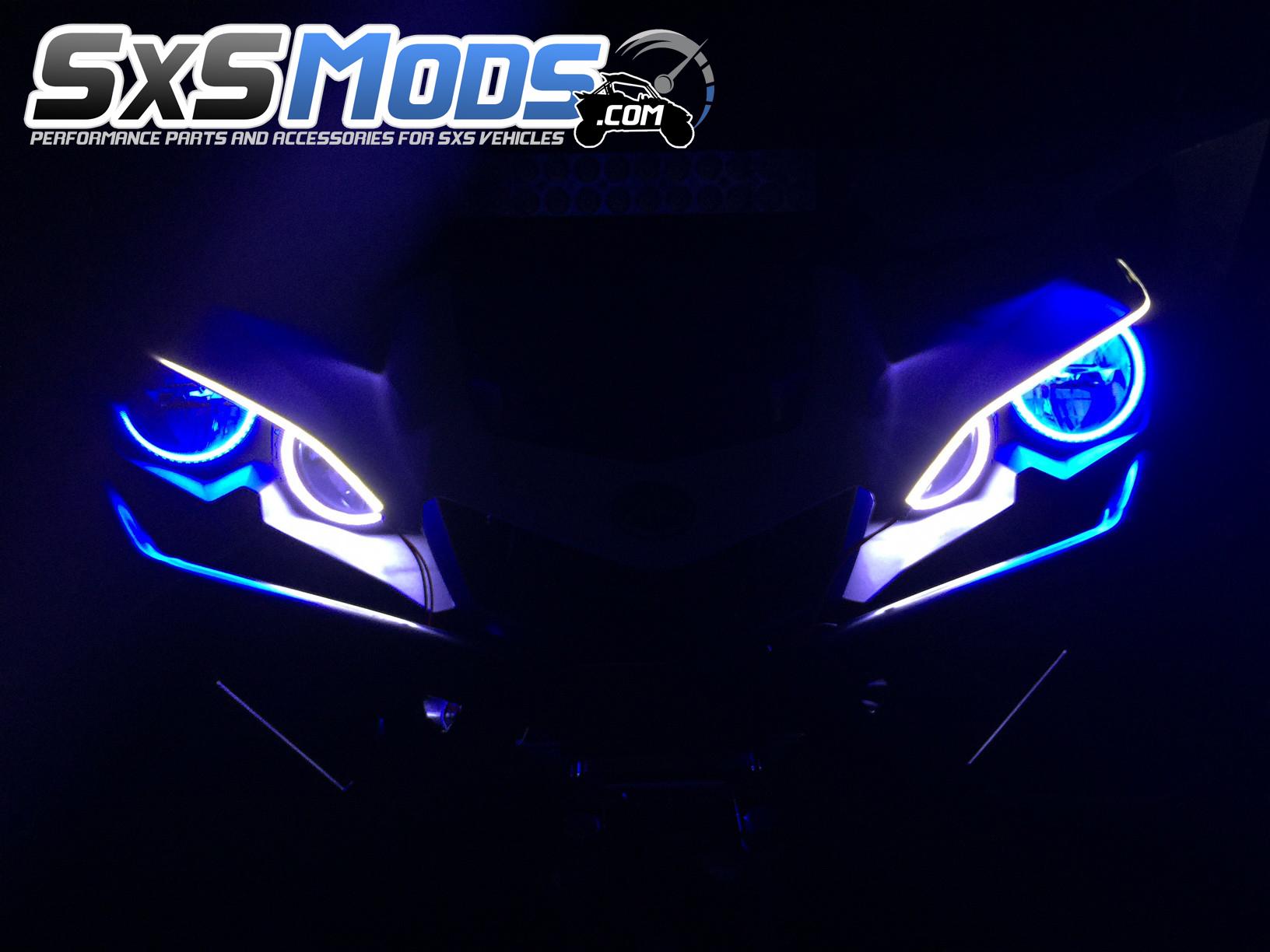 Yamaha yxz1000r smoked tube eyebrows lights for Yamaha mox8 specs