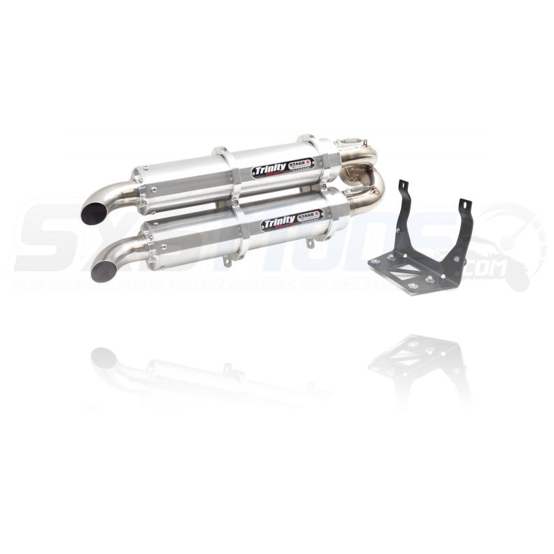 Trinity Racing Dual Slip-On Exhaust for the Can-Am Maverick X3